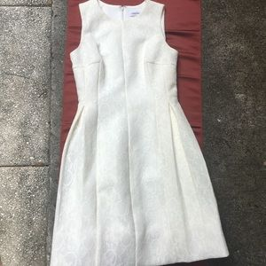 CALVIN KLEIN White LACE A-Line DRESS 4